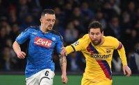 Barcelona draws 1-1 at Napoli in Champions League 1st leg