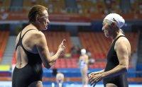 Elderly swimmers