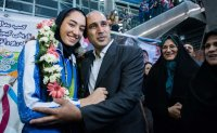 Iran's female Olympic medalist permanently leaves country
