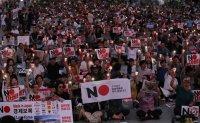Anti-Abe protest in Seoul [PHOTOS]