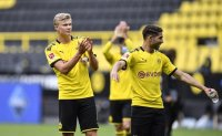 Bundesliga restarts with no fans, Haaland celebrates alone