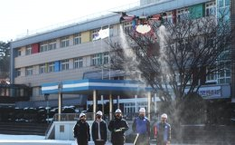 Drone disinfects schools