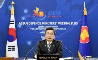 Defense chief seeks support for peace on peninsula at ministerial meeting