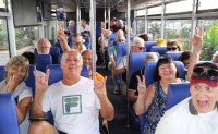 Cruise passengers scatter; take Cambodia bus tours