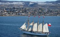 Chile's naval training ship visits Busan
