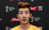 Korean goalie turns on the style for China