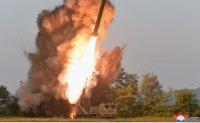 North Korea tested super-large multiple rocket launcher under Kim's guidance