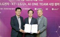 LGE, KT, LGU+ team up for AI research