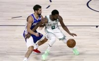 Walker's 32 lifts Celtics to 110-106 win, sweep of 76ers