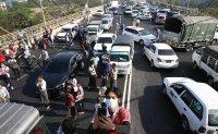 Myanmar protesters hope 'broken down' cars can stymie crackdown