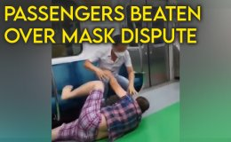 Man brutally attacks passengers on subway who said to wear mask [VIDEO]