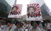 Massive anti-Abe rallies held on National Liberation Day