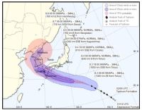 Typhoon Francisco barreling toward Korea