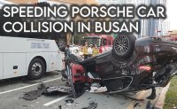 Speeding Porsche crashes into Grandeur sedan, causing seven vehicle collision in Busan