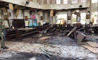 20 dead as twin bombing hits southern Philippine church