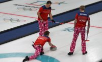 Norwegian curlers' colorful pants dazzle fans