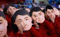 North Koreans' cheer gear causes stir
