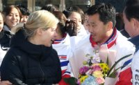 North Korean ice hockey team arrives in South for joint training