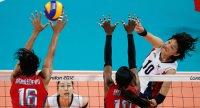 Women's volleyballers beaten by US