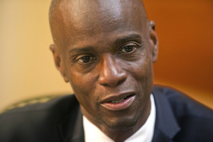 In this Feb. 7, 2020, file photo, Haiti's President Jovenel Moise speaks during an interview at his home in Petion-Ville, a suburb of Port-au-Prince, Haiti. Moise was assassinated at home, first lady hospitalized amid political instability. AP-Yonhap