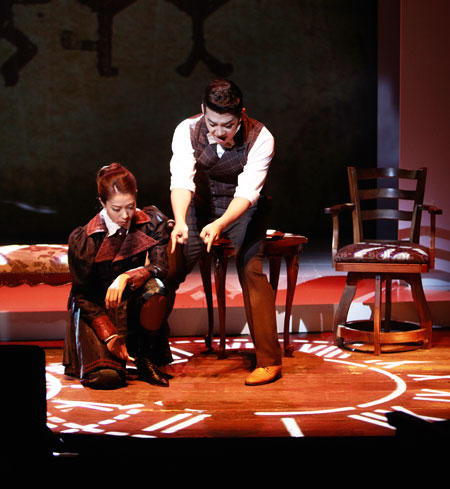 The musical 'Arsene Lupin' is currently staged at Blue Square Samsung Card Hall in Seoul. / Courtesy of PMC Production