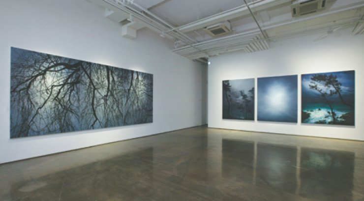 A view of Kong Sung-hun's 'Dusky Landscape,' an exhibition currently underway at Arario Gallery Seoul in downtown Seoul through Nov. 8/ Courtesy of the artist and Arario Gallery