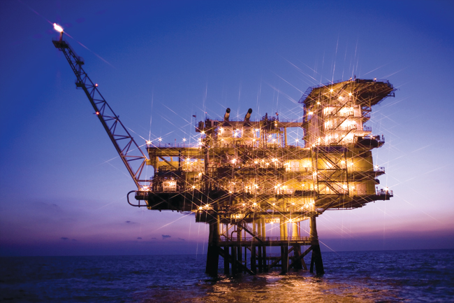 The Donghae-1 natural gas field, 58 kilometers offshore from Ulsan.  / Courtesy of KNOC