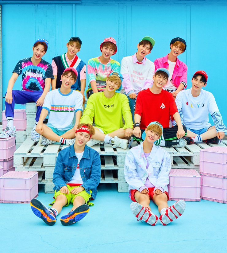 'Wanna One,' a 11-member project K-pop boy band, formed from of the second season of Mnet survival talent show 'Produce 101,' poses in this promotional photo for their debut album '1X1=1'     /    Courtesy of  CJ E&M