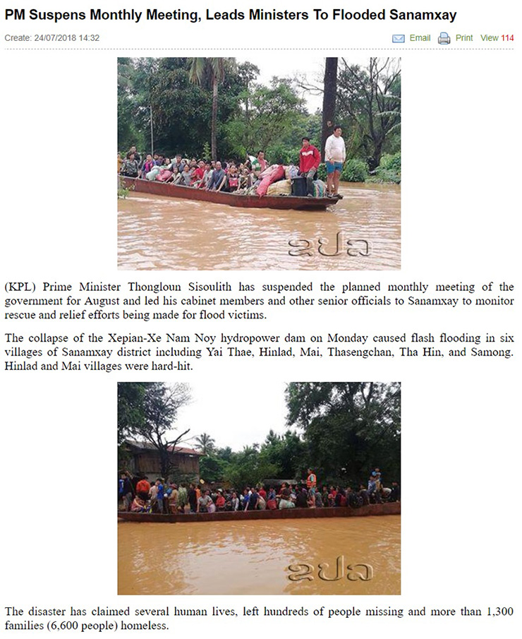 / Captured from Lao News Agency