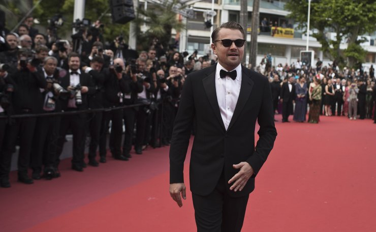 Actor Leonardo DiCaprio poses for photographers upon arrival at the premiere of the film 'Oh Mercy' at the 72nd international film festival, Cannes, southern France, Wednesday, May 22, 2019. AP