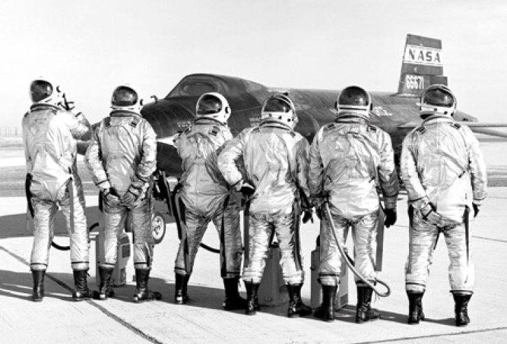 Crew members of NASA-X15