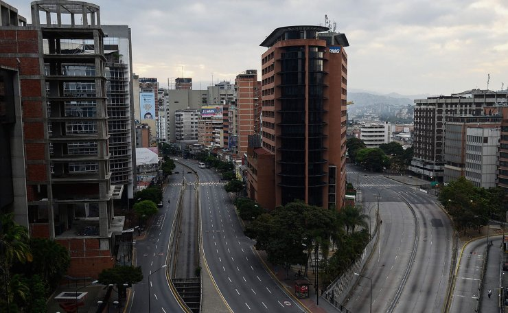 View of the Libertador Avenue at Chacao neighborhood in Caracas on March 9, 2019. AFP