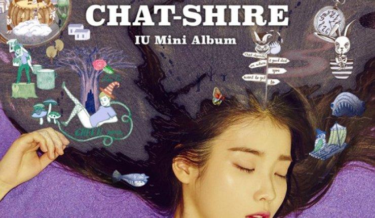 Cover of IU's album 'Chat-shire'  / Korea Times