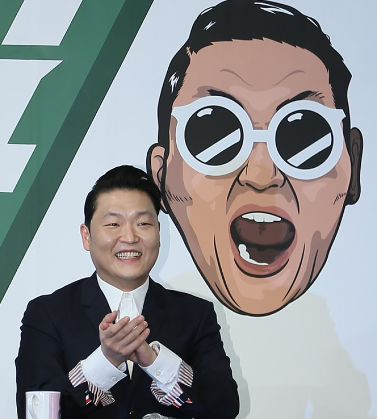 K-pop star Psy speaks at a press conference about his newly released seventh album at the Conrad Seoul in Yeouido, Monday. / Courtesy of YG Entertainment