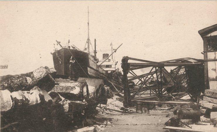 Earthquake at Yokohama Circa 1923 /  Courtesy of Robert Neff collection