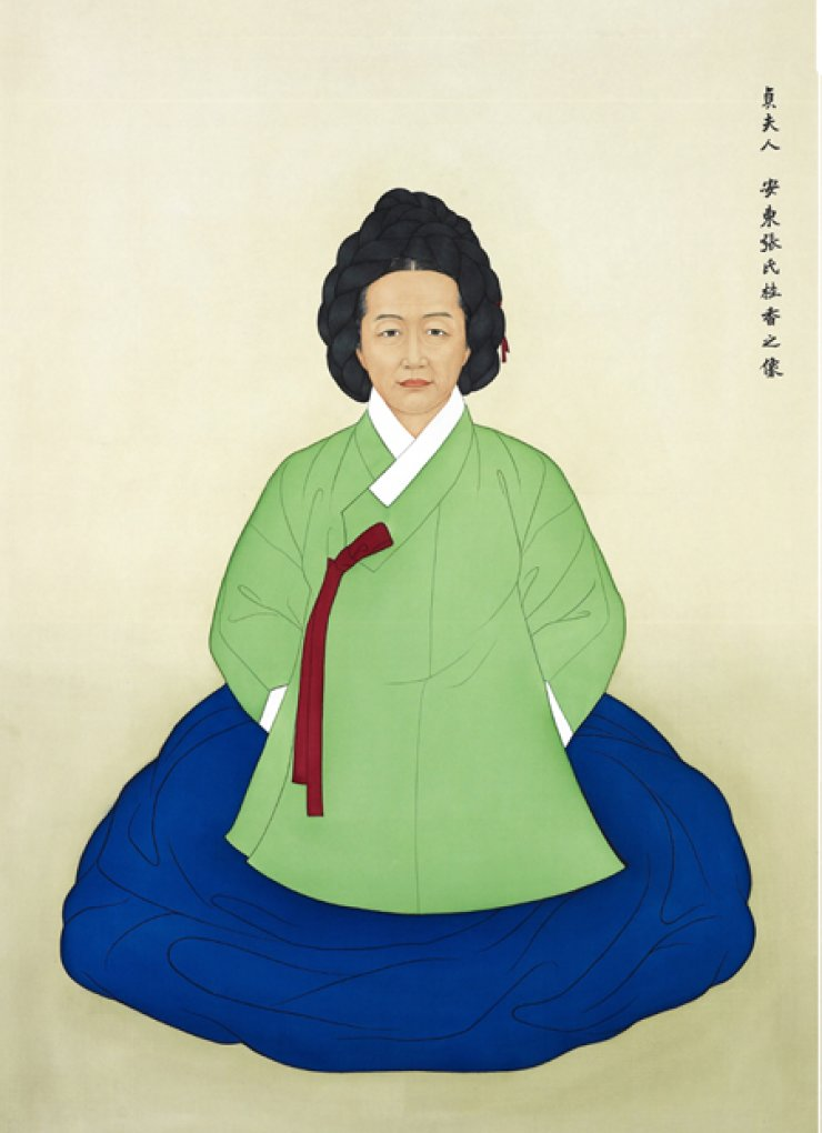 Portrait of Jang Gye-hyang (1598-1680) who is author of 'Eumsik dimibang,' the first cookbook written in Korean alphabet Hangeul, which dates back to 1670. / Courtesy of Eumsik dimibang