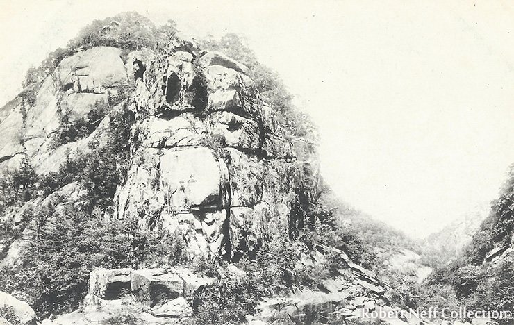 A rustic view of the mountain range, circa 1920s (054b)