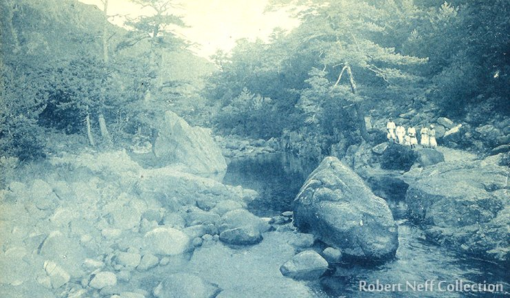 One of the many streams and valleys of the Diamond Mountains, circa 1920s