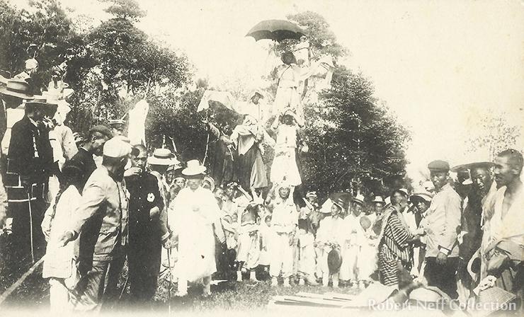 A namsadang performance, circa 1900s.
