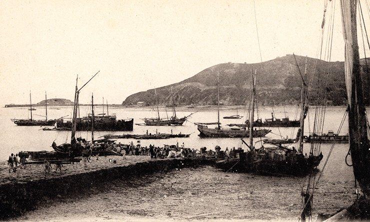 Jemulpo harbor, circa 1900, courtesy of Diane Nars.