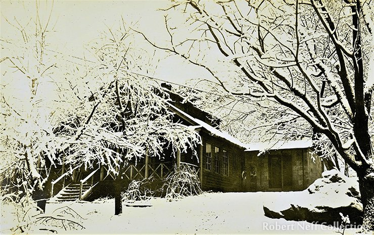 A Western mining supervisor's house on the concession.  Courtesy of the Lower family