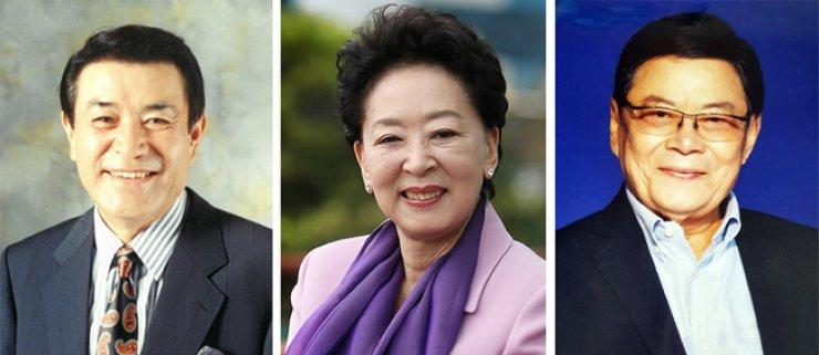 From left, Namgung Won, Kim Ji-mi and Nam Bo-won Yonhap