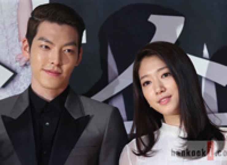 Kim Woo-bin, left, and Park Shin-hye