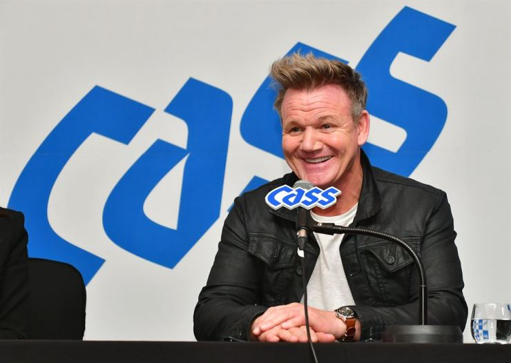 British celebrity chef Gordon Ramsay speaks during a press conference at Conrad Seoul, Saturday. / Courtesy of Oriental Brewery