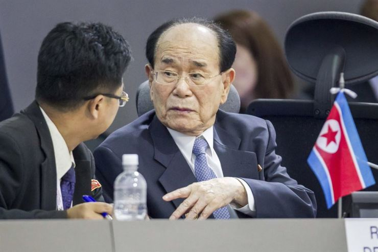 Kim Yong-nam, North Korea's ceremonial head of state, will attend the Feb. 9 opening ceremony of the PyeongChang Winter Games. / Yonhap
