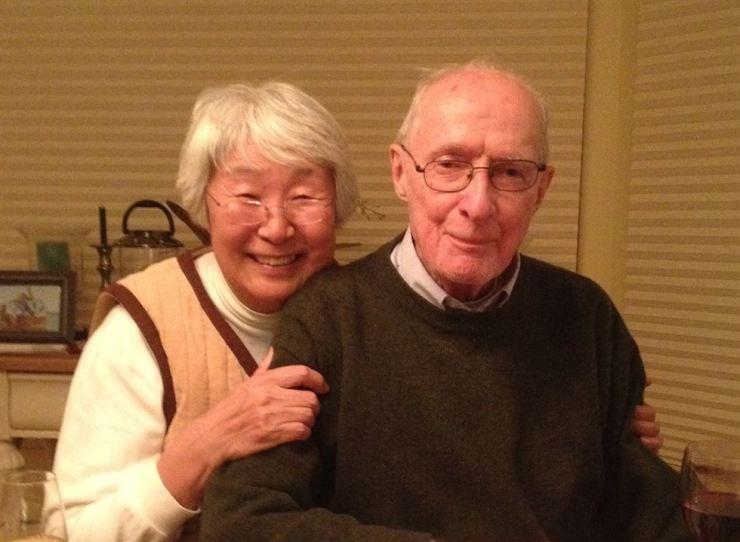 Stephen Bradner with his wife Shin-ja. / Courtesy Andrew Bradner