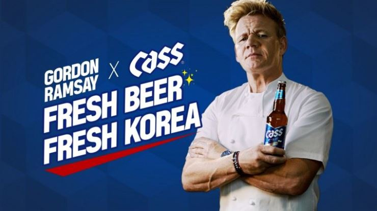 Gordon Ramsay's Cass commercials have drawn a massive criticism, saying the British celebrity chef's contract with South Korean major brewery OB for the unpopular lager betrayed his conventional evaluation of culinary dishes that are frequently laden with coarse languages.