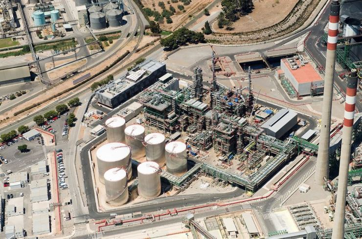 SK's lubricant facility, a joint venture with Repsol of Spain, is seen in this file photo, Thursday. Courtesy of SK Lubricants