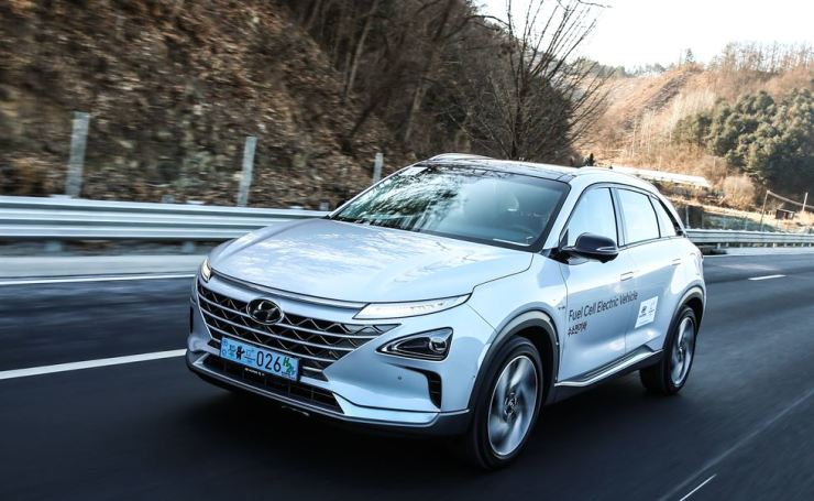 The Hyundai Motor NEXO hydrogen fuel-cell electric vehicle / Courtesy of Hyundai Motor