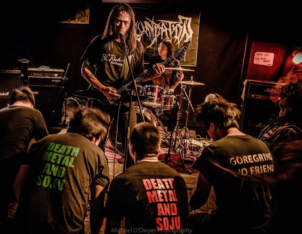 Korean death metal band Seed appears in the documentary 'K-Pop Killers' by Ian Henderson and Michael O'Dwyer. / Courtesy of Michael O'Dwyer